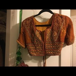 Vintage cropped beaded jacket/top